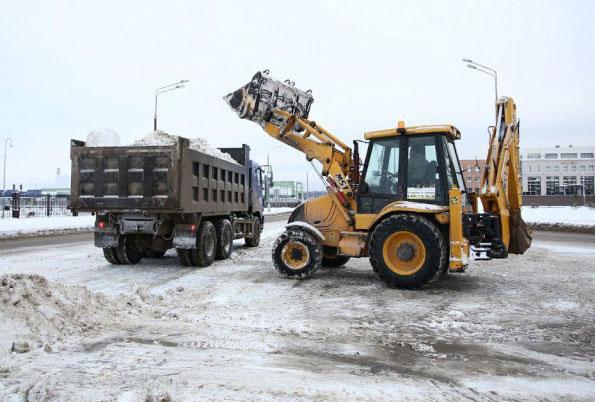 Лопата на колесах для уборки снега